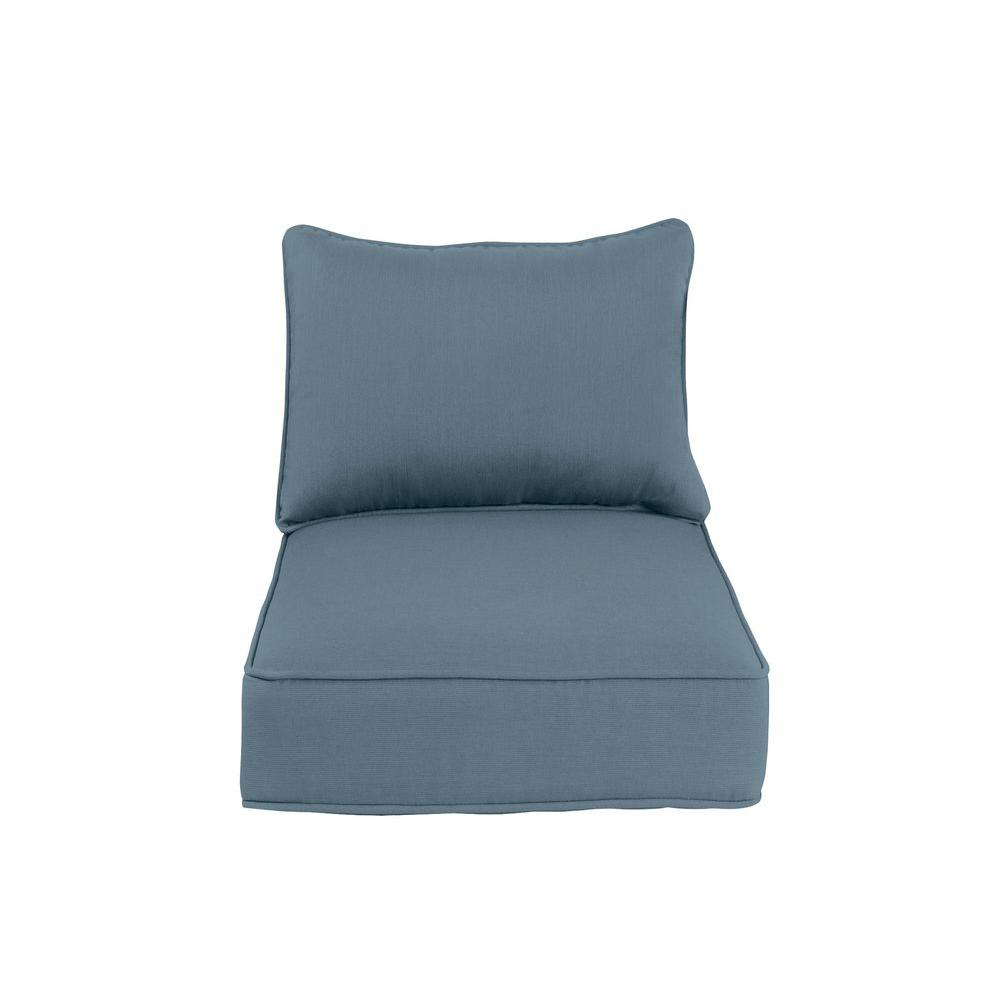 Greystone Replacement Outdoor Dining Chair Cushion in Denim