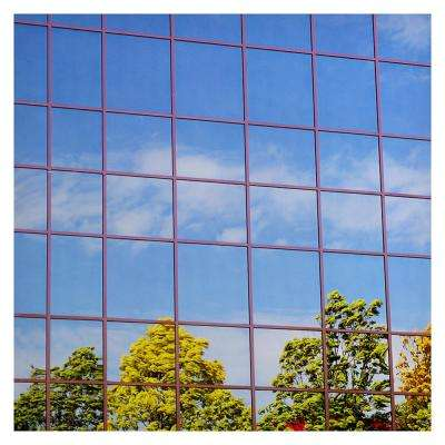 48 in. x 50 ft. S15 Heat Control Daytime Privacy One Way Mirror Silver 15 Window Film