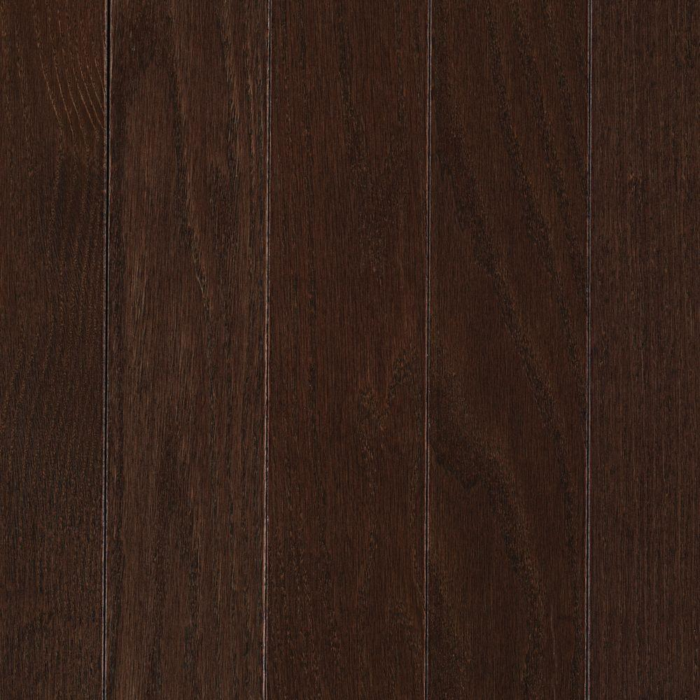 Mohawk Take Home Sample - Raymore Oak Chocolate Hardwood Flooring - 5 in. x 7 in.