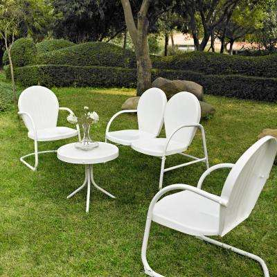 Griffith White 4-Piece Metal Patio Conversation Set