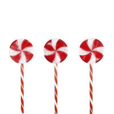 28 in. Candy Cane Pathway Lights (Set of 3)