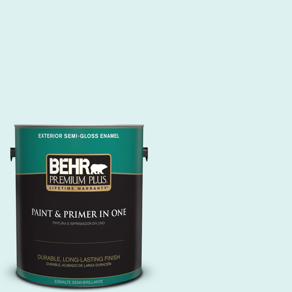 1-gal. #500C-2 Aqua Pura Semi-Gloss Enamel Exterior Paint