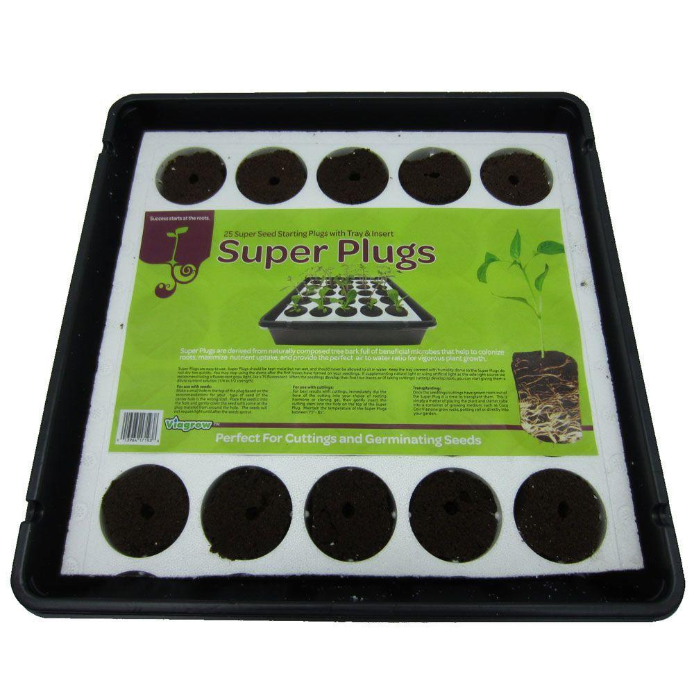 Viagrow Super Plugs Starter Kit Organic Seed Starter Plugs (25-Count)