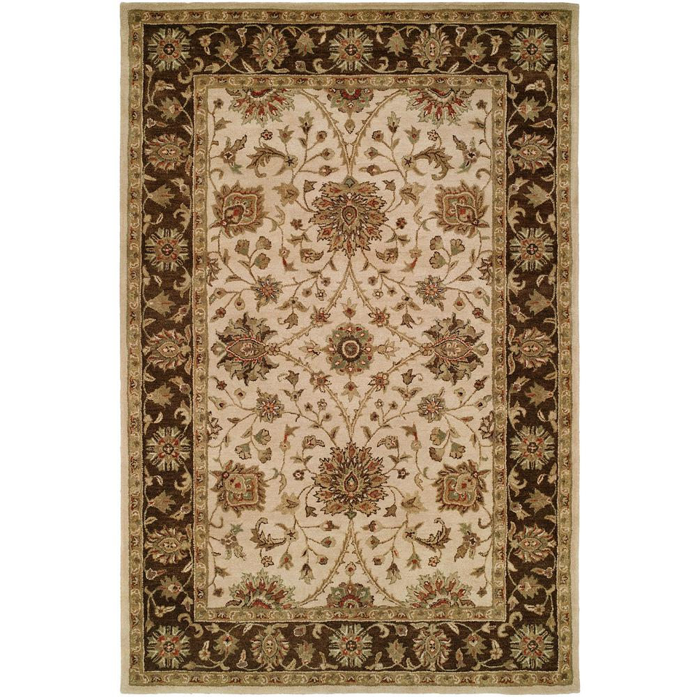 KALATY Empire Ivory Brown 9 Ft 6 In X 13 Ft 6 Area Rug