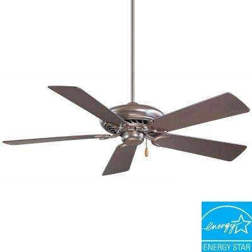 Supra 44 in. Indoor Brushed Steel Ceiling Fan