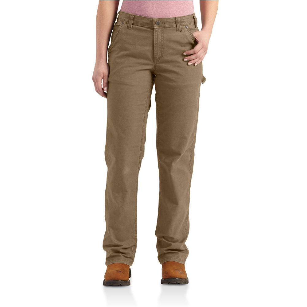 d9625c1973c Carhartt Women's 12 Yukon Cotton/Spandex Original Fit Crawford Pant ...