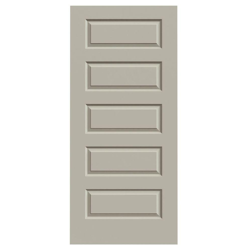 jeld wen 36 in x 80 in rockport desert sand painted smooth molded