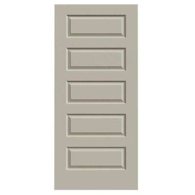 36 in. x 80 in. Rockport Desert Sand Painted Smooth Molded Composite MDF Interior Door Slab