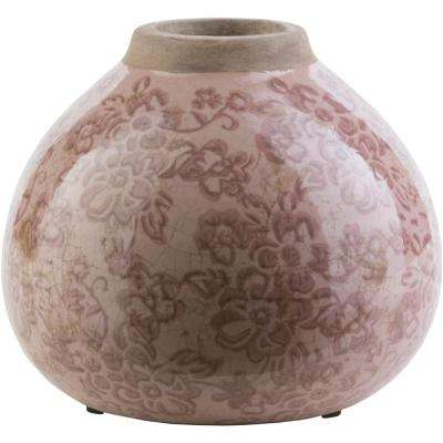 Wynbur 6.1 in. Mauve Ceramic Decorative Vase