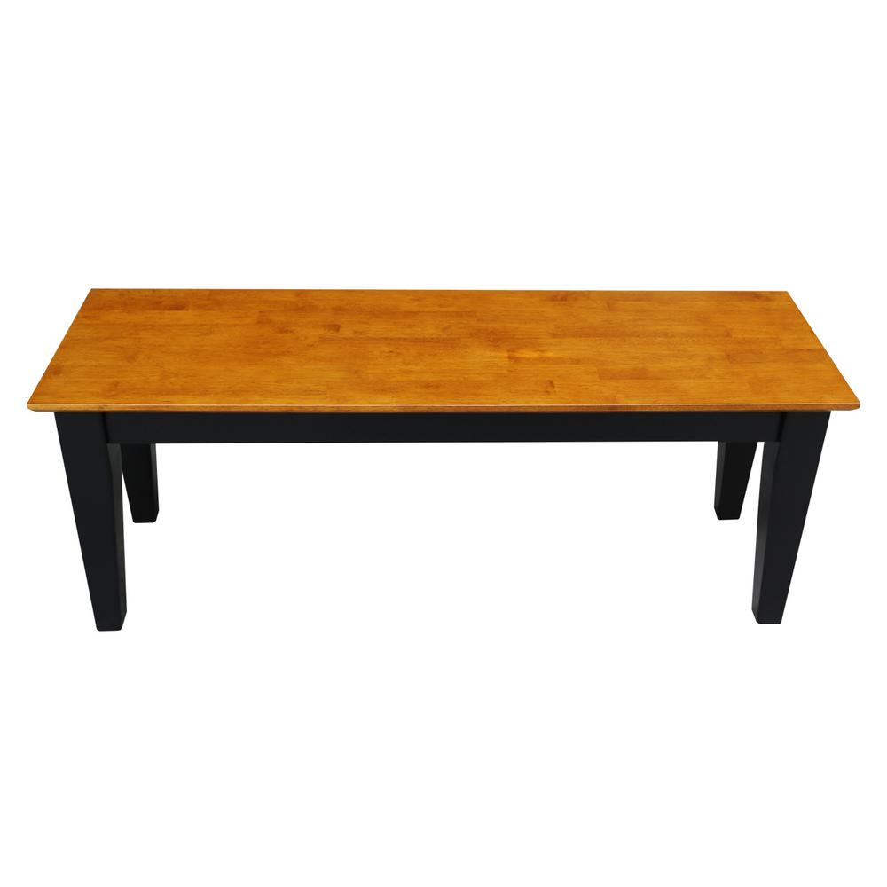 Outstanding International Concepts Black And Cherry Bench Be57 47S The Gmtry Best Dining Table And Chair Ideas Images Gmtryco