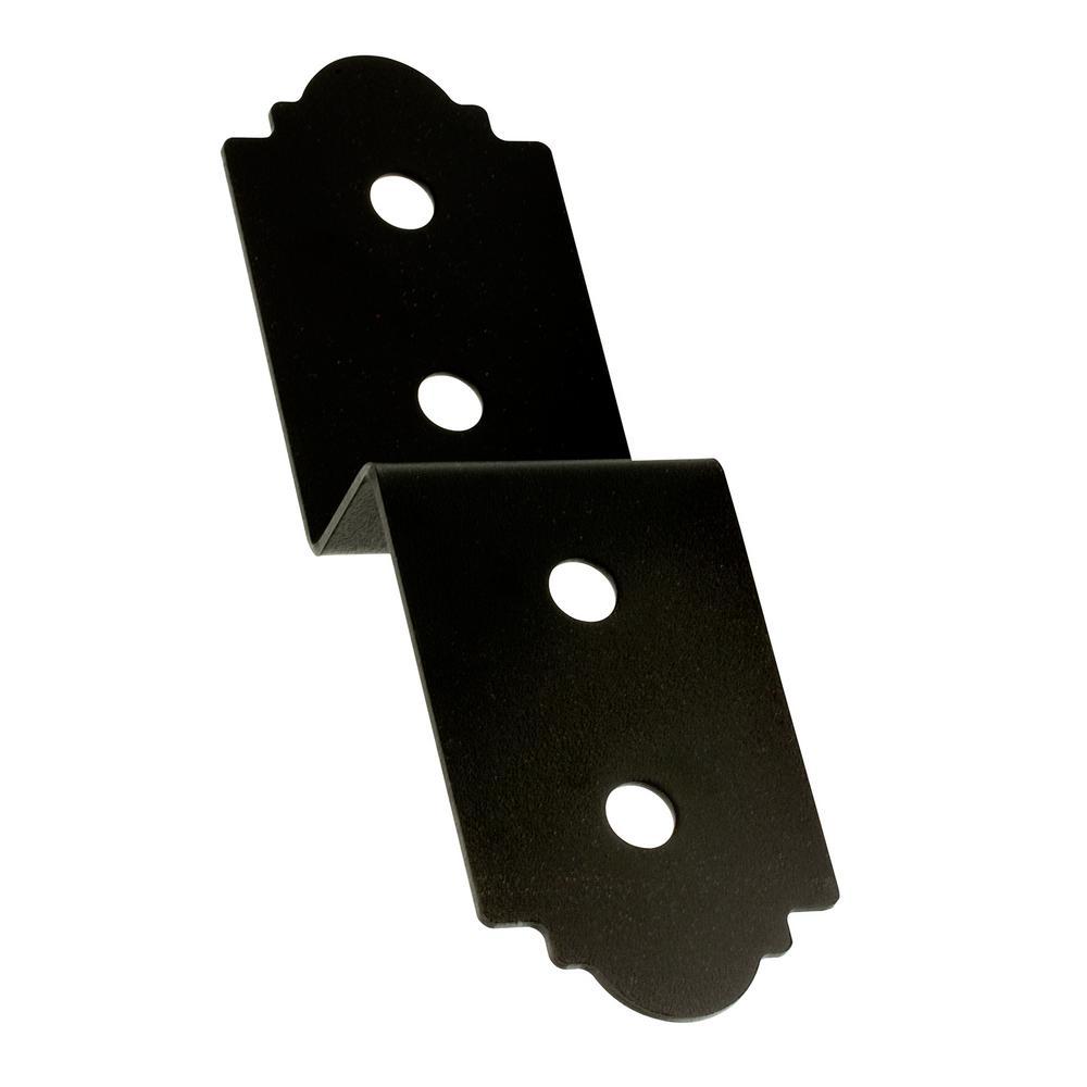 Outdoor Accents® 3 in. Rough ZMAX® Galvanized, Black Powder-Coat Deck Joist Tie