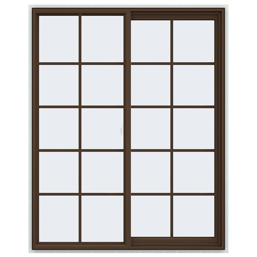 47.5 in. x 59.5 in. V-2500 Series Right-Hand Sliding Vinyl Window