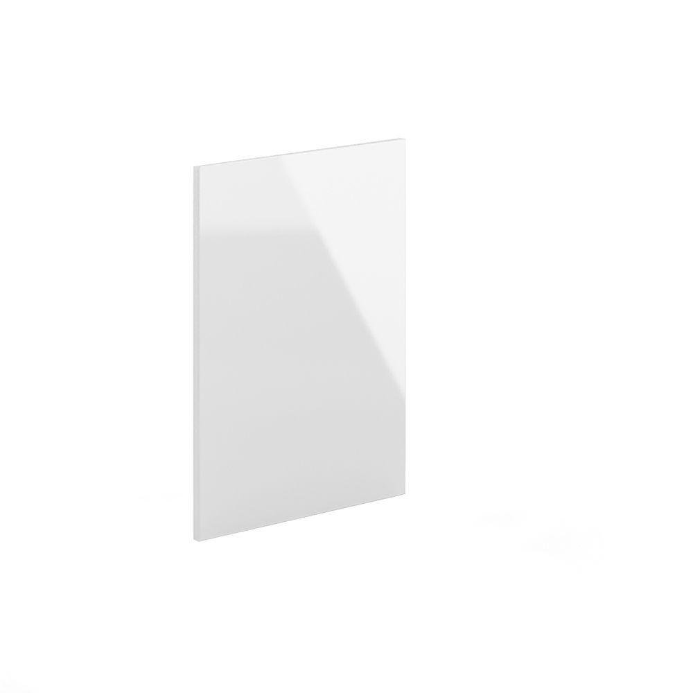 24x34.5x0.75 in. Dishwasher End Panel in High Gloss White Acrylic
