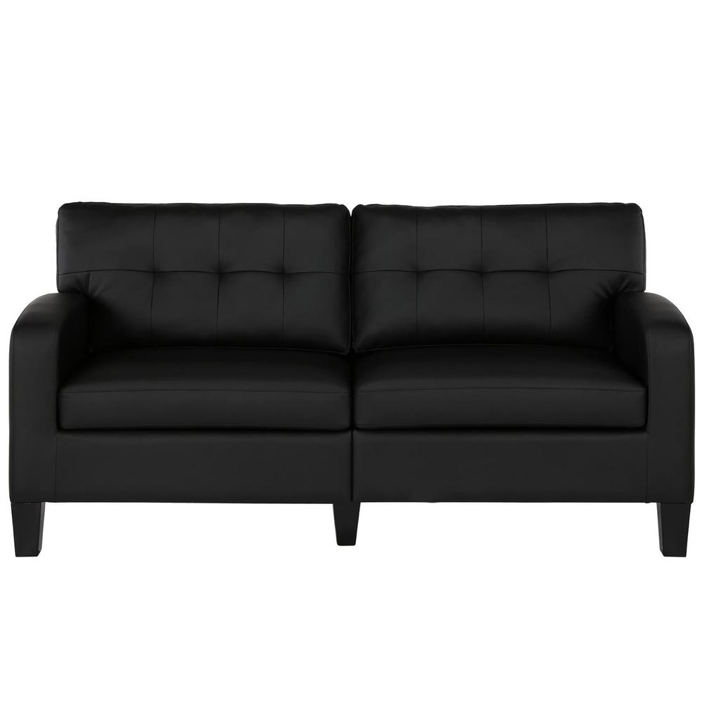 Dorel Living I Black Faux Leather
