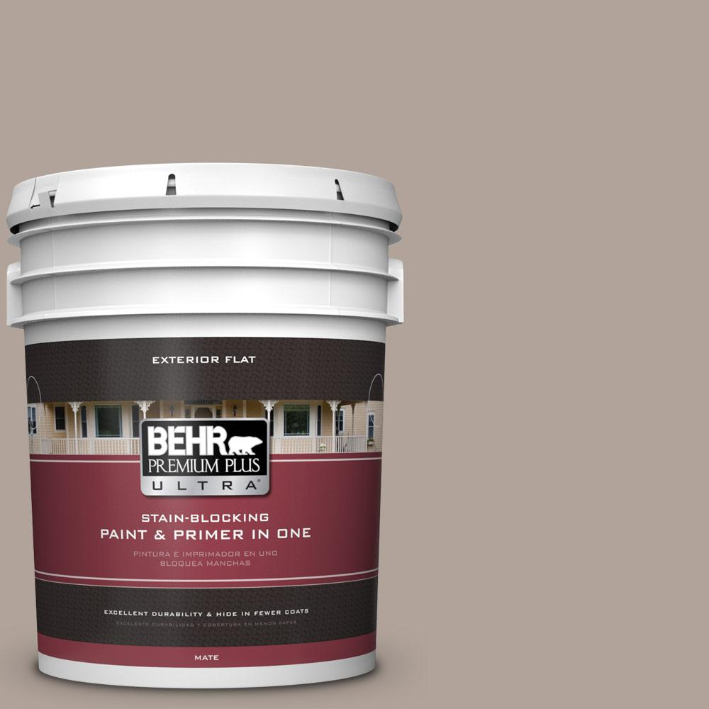 5 gal. #MQ2-56 Abbey Stone Flat Exterior Paint and Primer in
