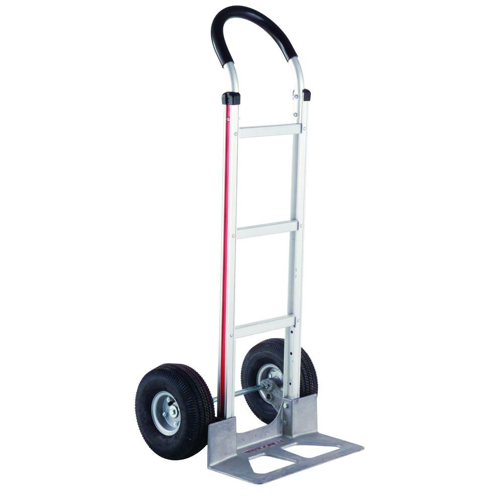 Magliner 500 lb. Capacity Aluminum Modular Hand Truck with Horizontal Loop Handle with Vinyl Sleeve and Pneumatic Wheels