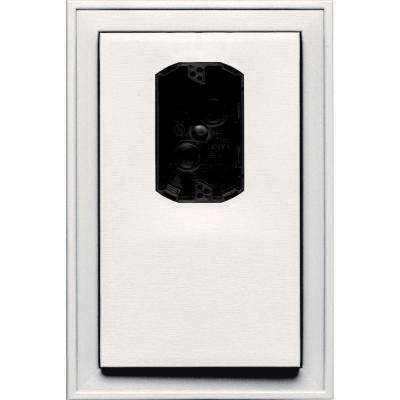 8.125 in. x 12 in. #117 Bright White Jumbo Electrical Mounting Block Offset