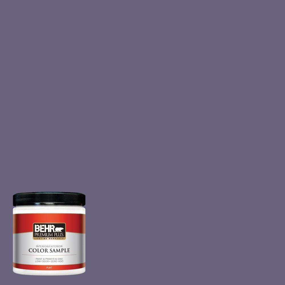 BEHR Premium Plus 8 oz. #650F-6 Victorian Iris Interior/Exterior Paint Sample