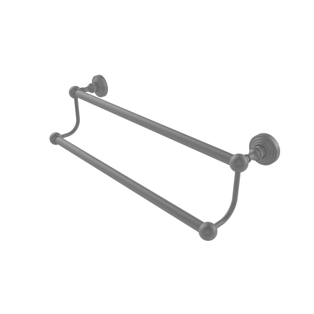 Allied Brass Wp 72 18 Gym Waverly Place Collection 18 Inch Double Towel Bar Matte Gray Towel Bars Tools Home Improvement