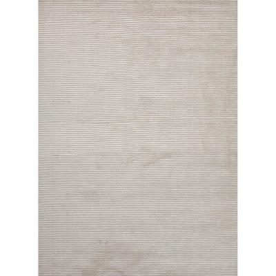 Solids/ Handloom Snow White 8 ft. x 10 ft. Solids Area Rug