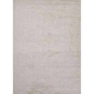 Solids/ Handloom Snow White 9 ft. x 12 ft. Solids Area Rug