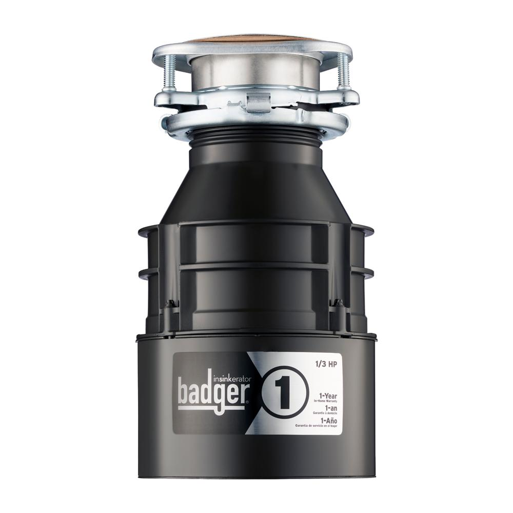 Genial InSinkErator 1/3 HP Badger 1 Continuous Feed Garbage Disposal