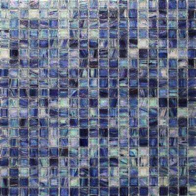 Breeze Blueberry Stained Glass Mosaic Wall Tile - 3 in. x 6 in. Tile Sample