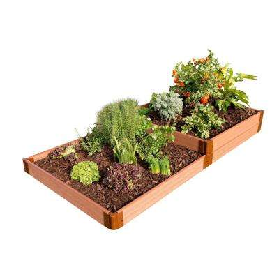 Two Inch Series 4 ft. x 8 ft. x 11 in. Terraced Multi-Level Classic Sienna Composite Raised Garden Bed Kit