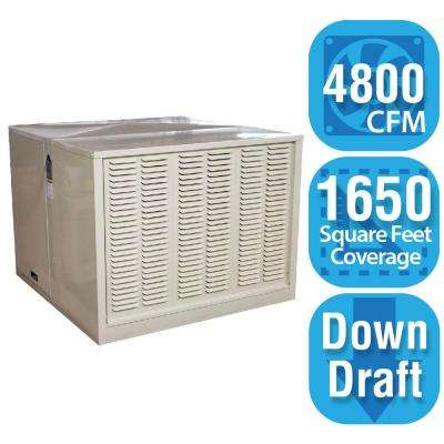 4,800 CFM Down-Draft Rigid Roof/Side Evaporative Cooler for 18 in. Ducts 1,650 sq. ft. (Motor Not Included)