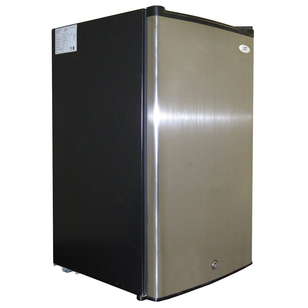 SPT 2.8 cu. ft. Upright Freezer in Stainless Steel/Black