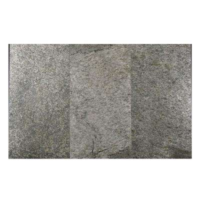 Silver Shine 12 in. x 24 in. Slate Peel and Stick Wall Tile (6 sq. ft. / pack)