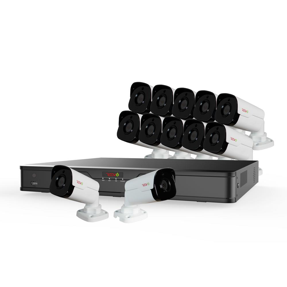 Ultra HD 16-Channel 4TB NVR Surveillance System with 12 4 Megapixel
