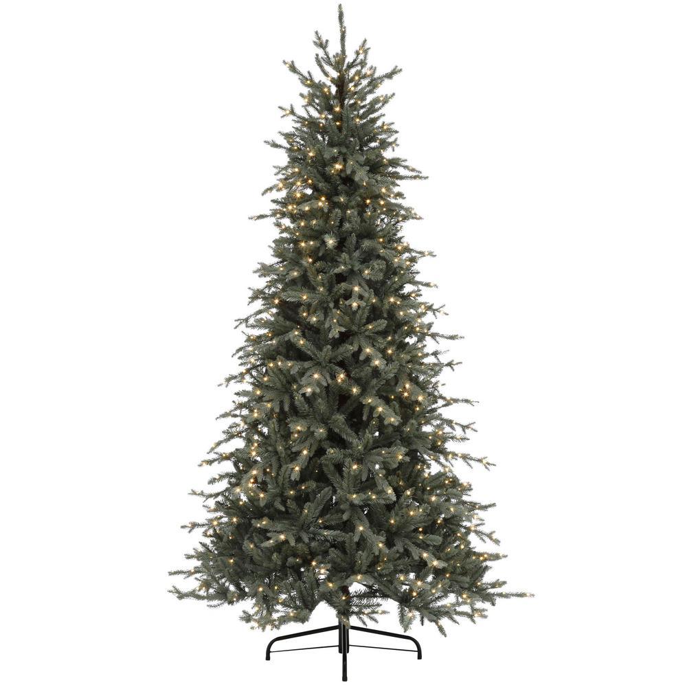 7.5 ft. Pre-Lit LED Jackson Fir Artificial Christmas Tree with 800 Warm White Micro Dot Lights
