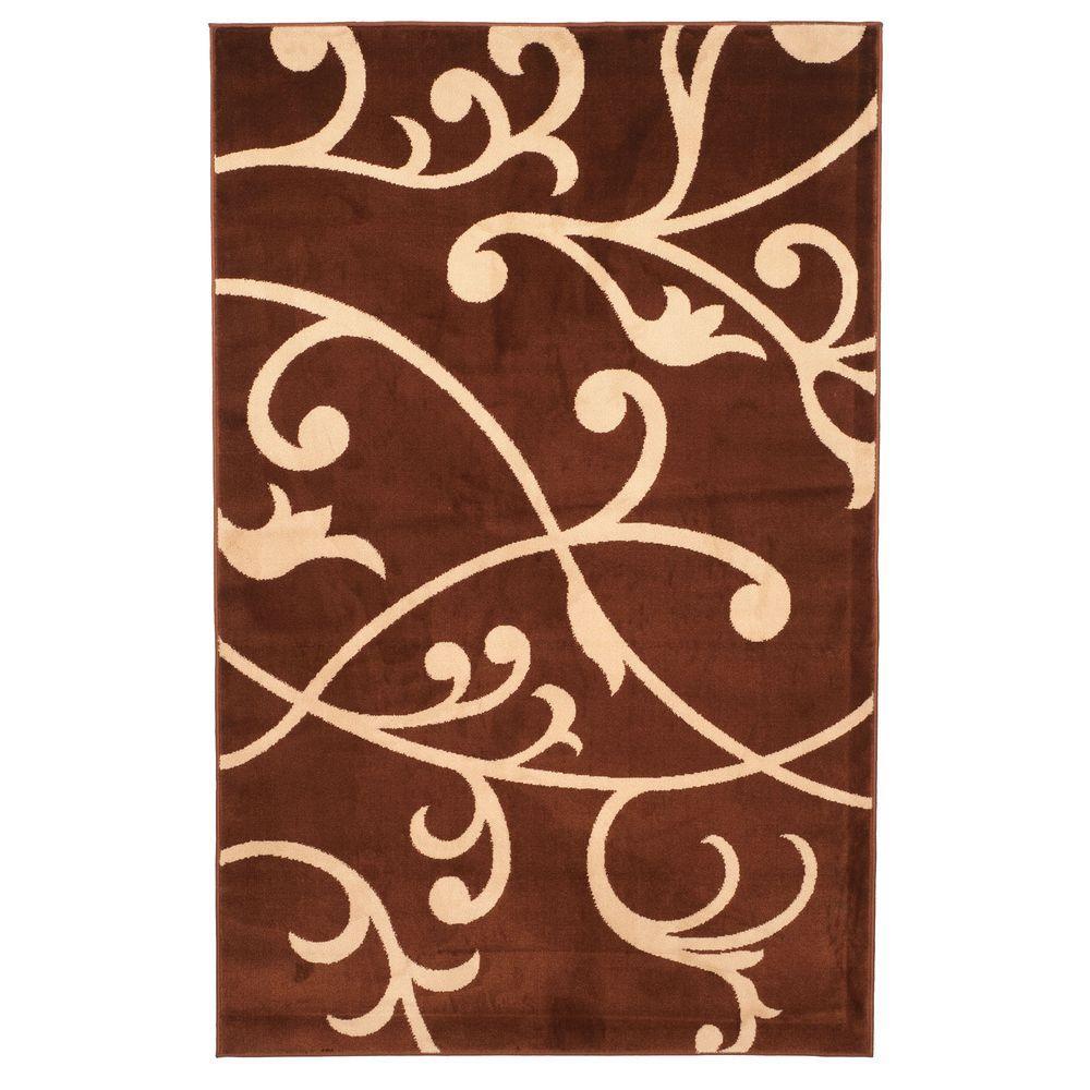 UPC 886511814684 product image for Lavish Home Brown Berber Leaves Rug | upcitemdb.com