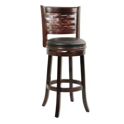 Sumatra 29 in. Cappuccino Swivel Cushioned Bar Stool
