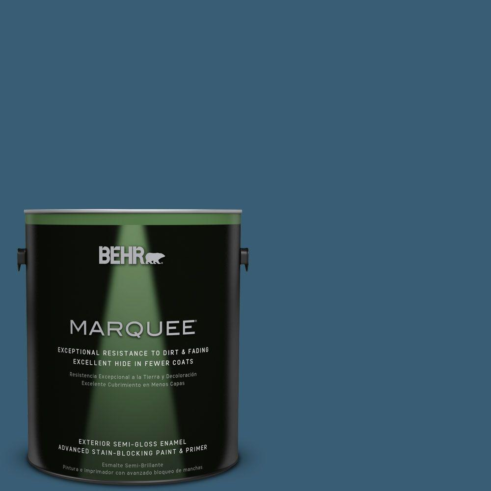 1-gal. #S490-7 Superior Blue Semi-Gloss Enamel Exterior Paint