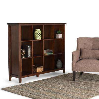 Artisan Medium Auburn Brown Open Bookcase