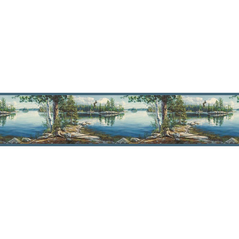 Caddo Echo Lake Wallpaper Border