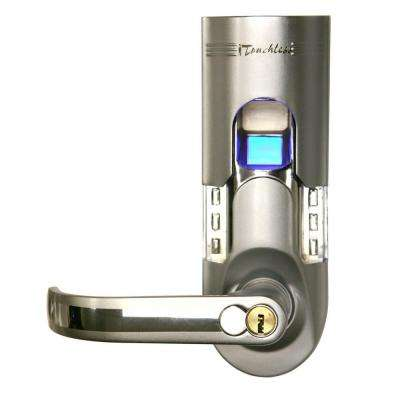Bio-Matic Fingerprint Silver Left Handle Door Lock
