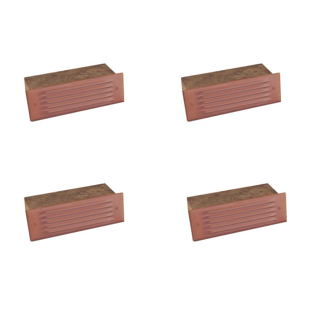 1-Light Matte Bronze Outdoor Deck Light (4-Pack)