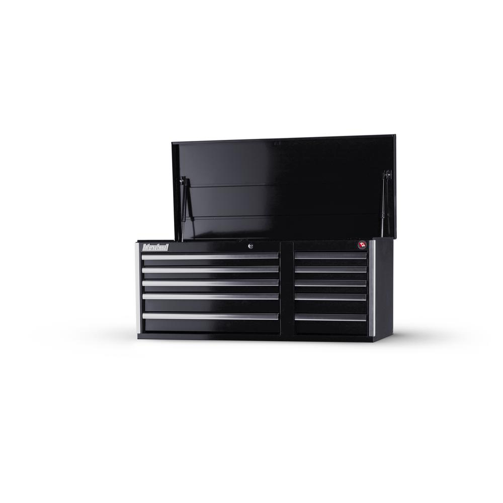 Tech Series 42 in. 10-Drawer Top Chest, Black
