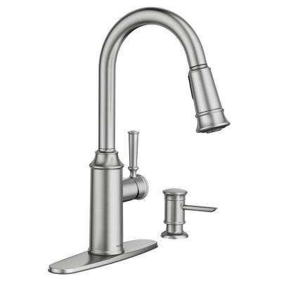 Glenshire Single-Handle Pull-Down Sprayer Kitchen Faucet with Reflex and Powerclean in Spot Resist Stainless