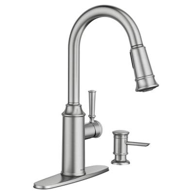 Glenshire Single-Handle Pull-Down Sprayer Kitchen Faucet with Reflex and Power Clean in Spot Resist Stainless