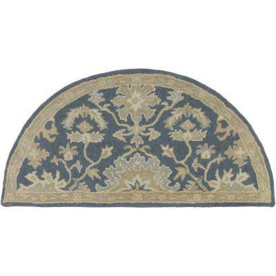 Demetrios Taupe 2 ft. x 4 ft. Hearth Indoor Area Rug
