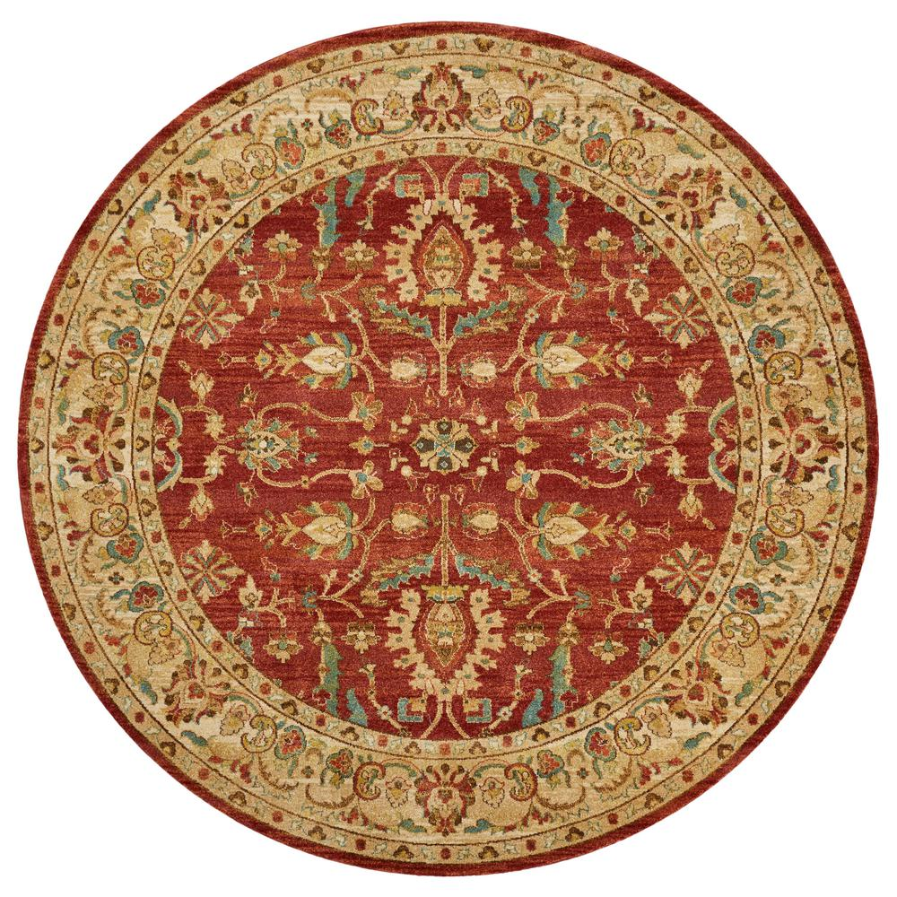 Kas Rugs Cordoba Spicesand Heritage 10 Ft X 10 Ft Round Area Rug