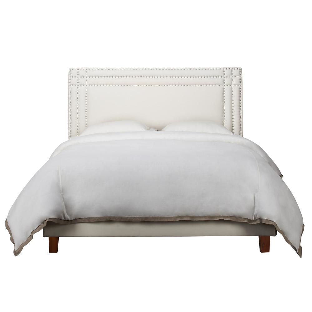 Jennifer Taylor Shea Antique White Queen Headboard 5007