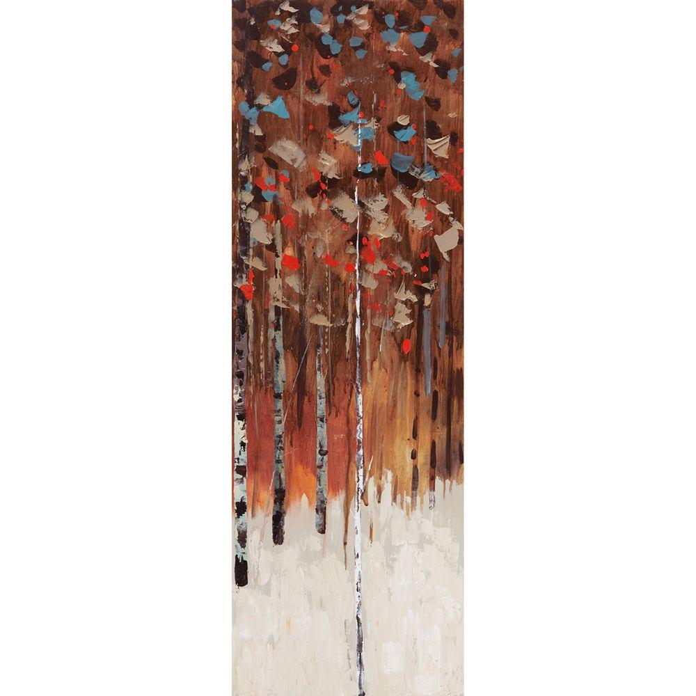 Yosemite Home Decor 12 in. x 35 in. Shades Of Fall II Hand Painted Contemporary Artwork-DISCONTINUED