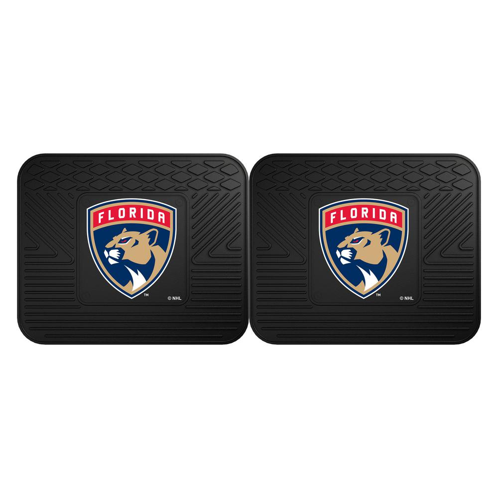 Fanmats Nhl Florida Panthers Black Heavy Duty 14 In X 17