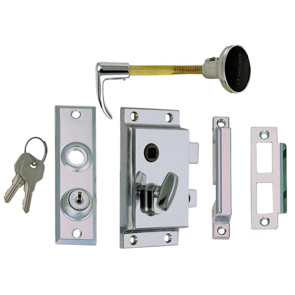 Rim Lock Set Reverse with Flush Strike