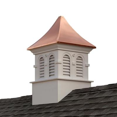 Smithsonian Columbia 42 in. x 42 in. x 67 in. Vinyl Cupola with Copper Roof